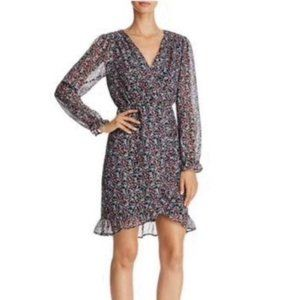 Anthropologie Floral  Ruffle Dress